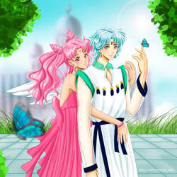 Sailor Moon - Helios and Chibiusa in love by YoujinTsukino