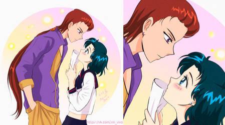 Sailor Moon Ami and Taiki by YoujinTsukino
