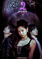 Two world cover bts blackpink by KatherineSDeath