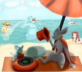 A day at the Beach (TDFC Contest Entry) by Kittara-Mirrou