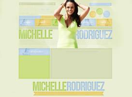 Michelle Rodriguez Free Layout by lenkamason
