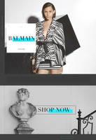 BALMAIN | Fashion Web Design by lenkamason