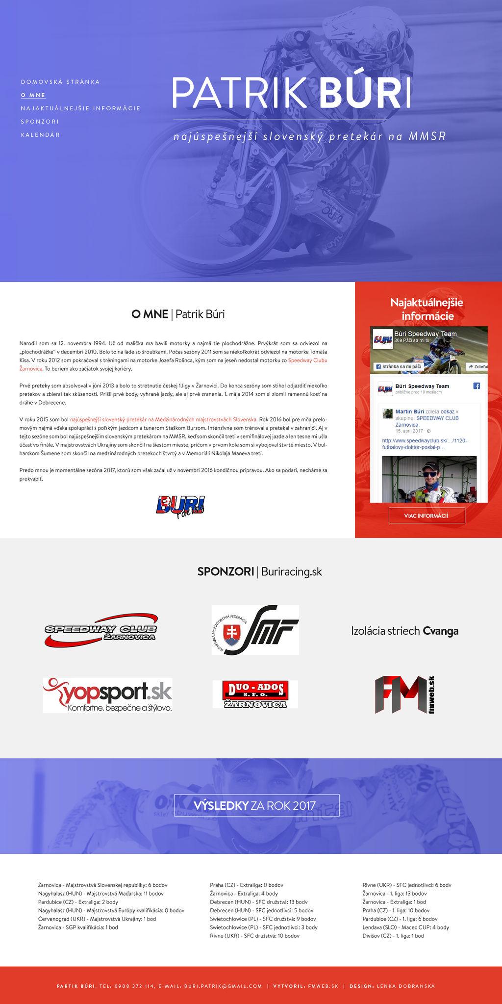 Official Website - Patrik Buri | buriracing.sk by lenkamason