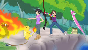 Dratini Fishing xD by Rainbow-Butterfly356