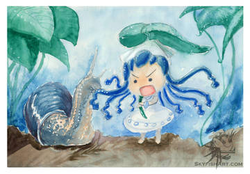 Ika and snail by Ludjia