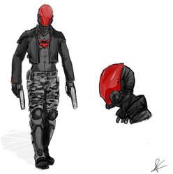 Arkham Red Hood Redesign by littleredhairedrobin