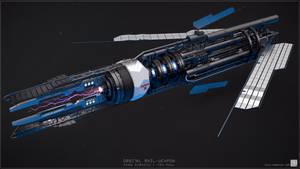Orbital Rail-Weapon 3/4 front by EdonGuraziu