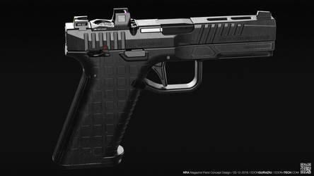 NRA Magazine 2018 Volume - Pistol Concept Design by EdonGuraziu