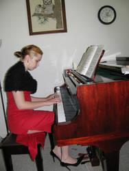 Piano Girl 6 by Panda-Stock8