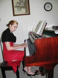 Piano Girl 7 by Panda-Stock8