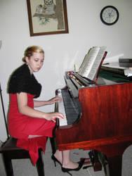 Piano Girl 8 by Panda-Stock8