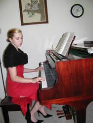 Piano Girl 9 by Panda-Stock8