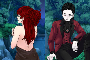 Dracula Watches Abigail by yumihikiaru245