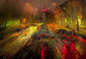 Rainy Evening by RHADS