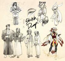 Shishin Sketch Dump by rekka