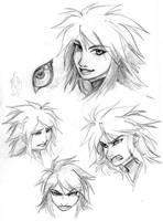 Suzaku Facial Study by rekka