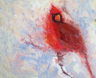 Winter Cardinal by FineArtCandice