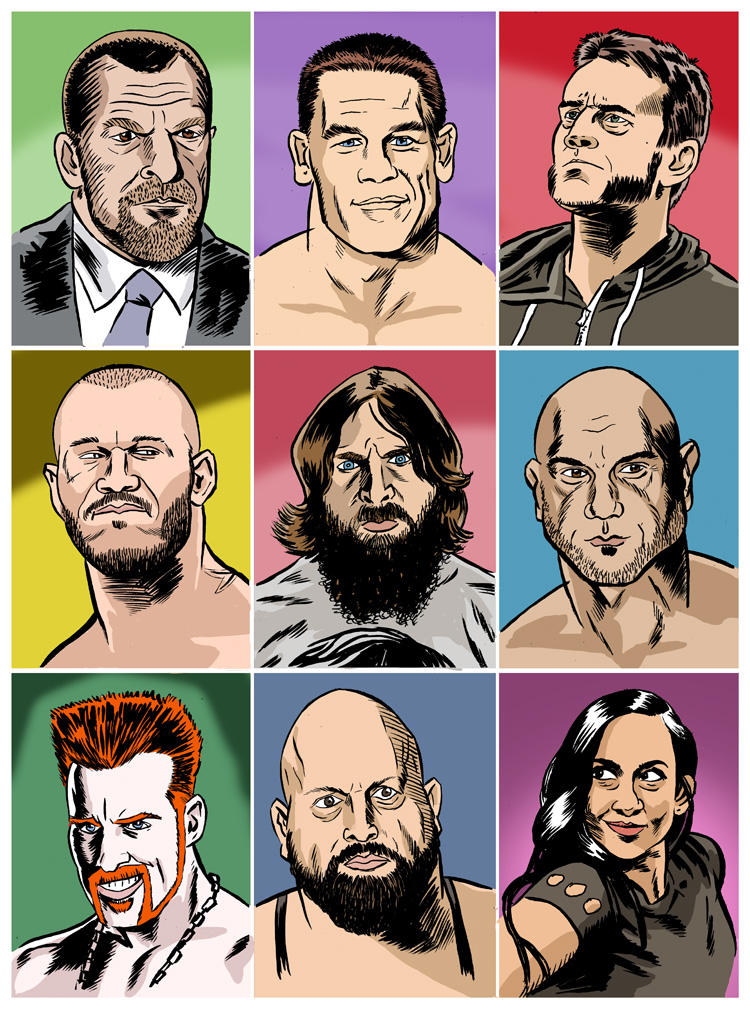 The Faces Of Wwe by jkipper