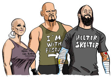Cm Punk And SES by jkipper