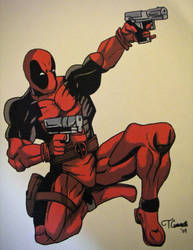 Deadpool Drawing by cusT0M