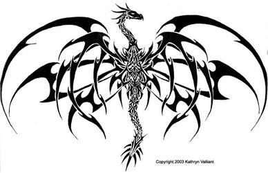 Kats Dragon Tattoo Version 2 by wasurera