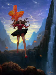 The Descent into Fantasy by Caleb-Brown