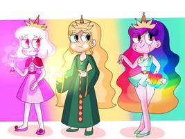 princess Galaxia, Helia and Venus by infaminxy