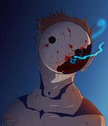 Goretober - Day 3 Masked - Demon Cryaotic by PolarisDraws