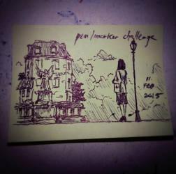 Pen/marker challenge by saguahollic