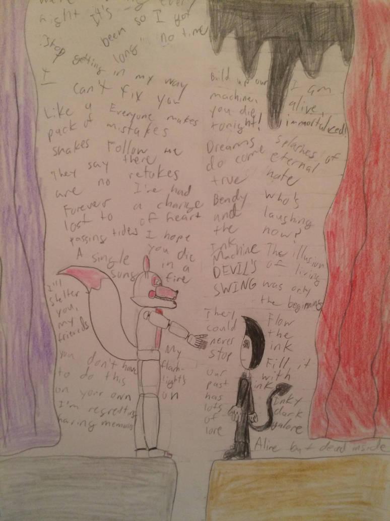 Funtime Foxy meets Bendy by Springtrap9Atlas