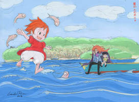 Gake no Ue no Ponyo (Ponyo on the Cliff) by ncillustration