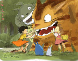 Tonari no Totoro (My Neighbor Totoro) by ncillustration