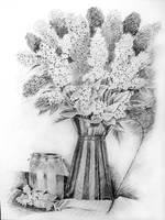 Bzy still life drawing by gosia-jasklowska