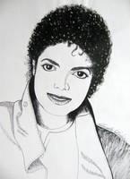 Michael Jackson portrait - ink drawing by gosia-jasklowska