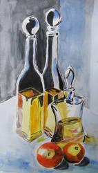 Watercolor still life by gosia-jasklowska