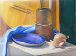 still life oil painting on canvas by gosia-jasklowska