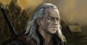 Geralt of rivia portrait by Bathorygen