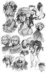 Messy Sketches by hanime87