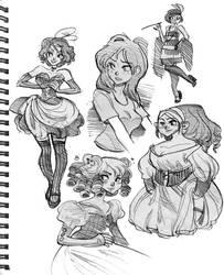 Sketchbook stuff by hanime87