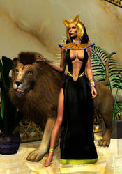 Bastet - Goddess of Cats by Timewyrm