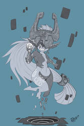 September - Weekly Sketch 1 - Twilight Midna by Duaxer