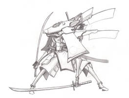 Japan mech sketch by Gjomlez