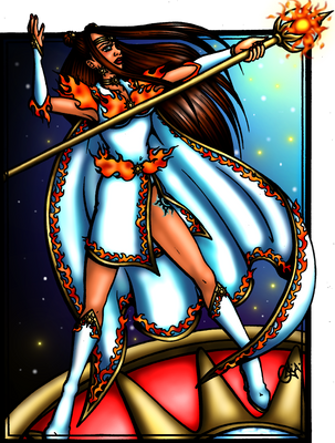 Sailor Solarion Miss Galaxy Pageant Round 6 Entry by JoJiaMystie