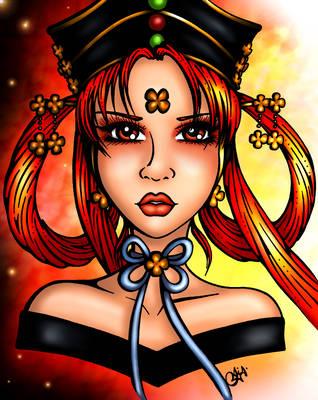 Princess Fireball : Princess Kakyuu Color by JoJiaMystie