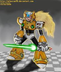 MMX - Zero Golden Armor by Shinobi-Gambu