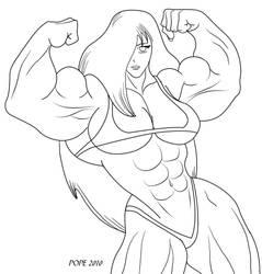 Buff Anime Chick by hulkdaddyg