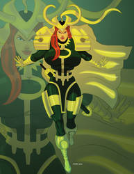 Jessica Riley as Loki by hulkdaddyg