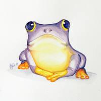 Purple Frog by MyonArt