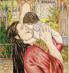 Elrond and Estel coloured by annoulaki