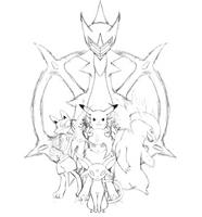 My Pokemon Team Remake Sketch by JamalC157